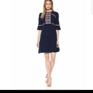 Ella Moon Juliette sleeve embroidered dress